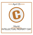 World Intellectual Property Day vector image