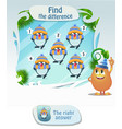 find the difference penguin2 vector image