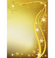 Gold Christmas Greeting vector image
