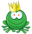 frog cartoon on white background vector image vector image