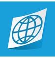 Globe sticker vector image