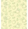 Lemon seamless pattern hand drawing vector image