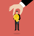 Businessman choosing worker who has idea vector image