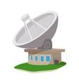 Satellite communication station cartoon icon vector image