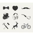 elements for vintage hipster labels vector image