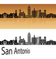 San Antonio skyline in orange vector image vector image