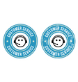 Customer service retro badges vector image