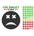 blind smiley icon with bonus emoticon set vector image