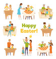 happy easter family set vector image