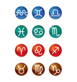 Twelve zodiac signs vector image