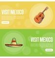 Visit Mexico Touristic Web Banners vector image