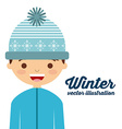 winter clothes design vector image