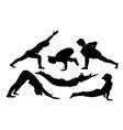 Women yoga vector image