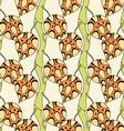 Textured Leaf Patterned Wallpaper vector image