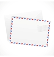 White paper airmail envelope