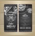 chalk drawing coffee menu design decorative vector image