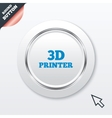 3D Print sign icon 3d Printing symbol vector image