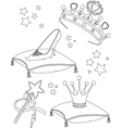 princess collectibles coloring page vector image