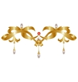 Gold jewelry vector image
