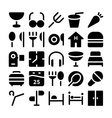 Hotel and Restaurant Icons 9 vector image