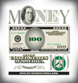 money 100 Fade vector image