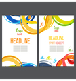 Sport template design strips of colored rings and vector image