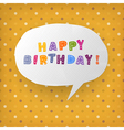 happy birthday gift card template vector image vector image