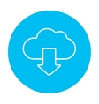 Cloud with arrow down line icon vector image