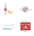 water meter bath and other equipmentplumbing set vector image