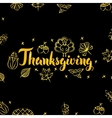 Thanksgiving Gold and Black Design vector image