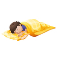 A young man sleeping soundly vector image vector image