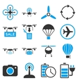 Copter tools icon set vector image