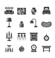 home decoration icons vector image