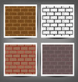 Different color brick textures collection vector image