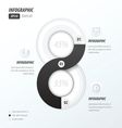 eight circle infographic 2 color black and White vector image