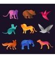 Animal zoo icons set vector image