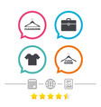 cloakroom signs hanger wardrobe icons vector image