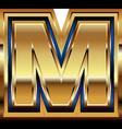 Golden Font Letter M vector image
