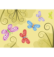 Butterfly backgrounds vector image