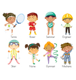 sports kids vector image vector image