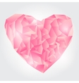 Abstract Pink Polygonal heart vector image