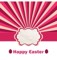 Pink Easter eggs under rays EPS 8 vector image