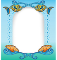 An empty template with the sea creatures vector image