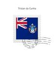 Tristan da Cunha Flag Postage Stamp vector image