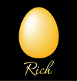 Rich golden egg vector image