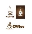 Coffee cup shop logo icon vector image