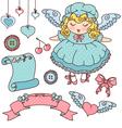 cute design elements vector image vector image