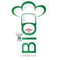 Bio symbol restaurant icon vector image