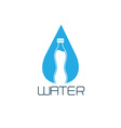 bottle of water design concept vector image
