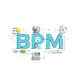 BPM Business Process Management word vector image